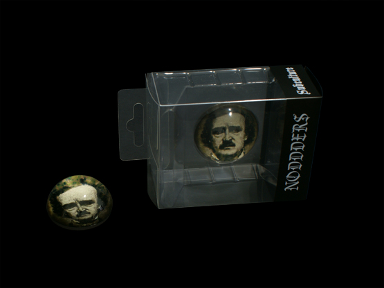 Edgar allan poe Goth Headphones glass dome