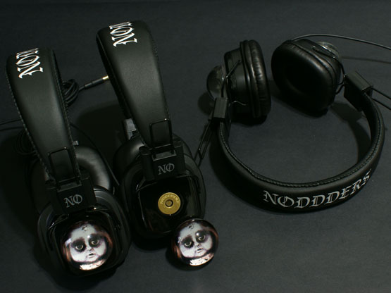 Creepy doll headphones