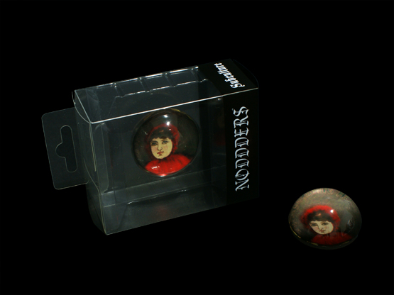 Little red riding hood headphones glass dome