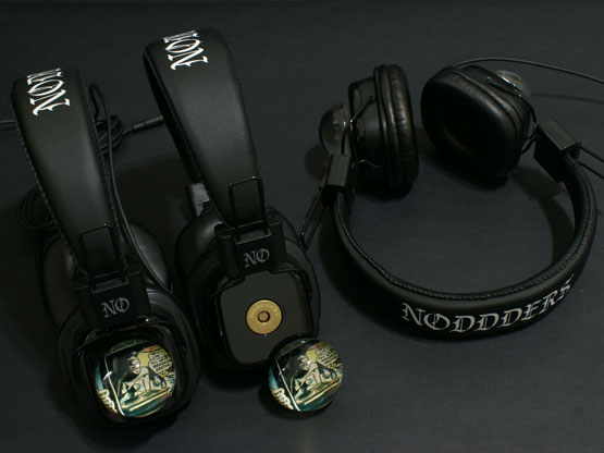 Unique comics style headphones with glass