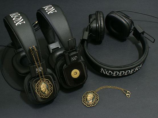 sci-fi art headphones
