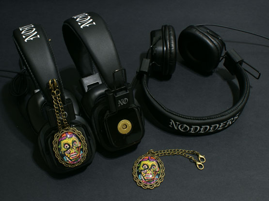 Horror comics headphones