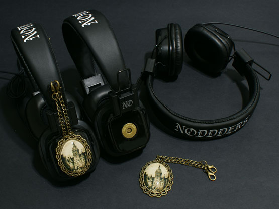 goth vampire castle headphones