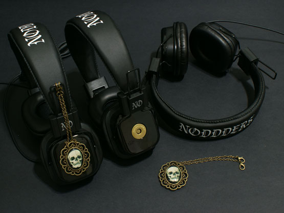 Gothic skull headphones