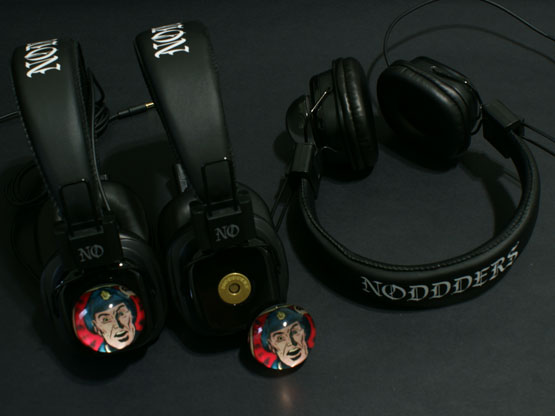 Vibrant comics headphones