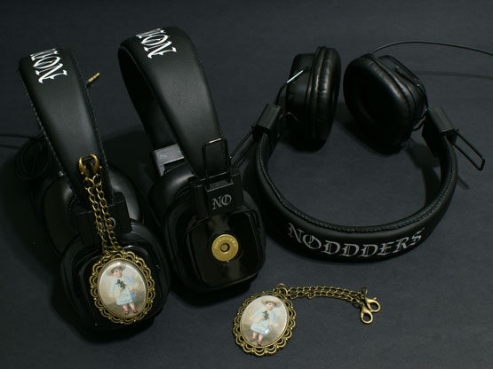 vintage Victorian style headphones