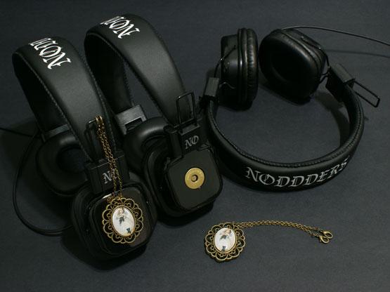 Vintage girl with cat headphones