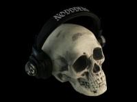 Skull with Edgar Allan Poe Crystal