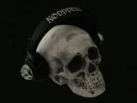 Skull with skull on book crystal