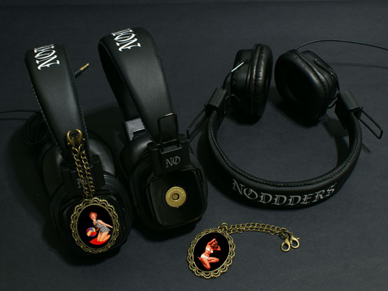 Headphones with pinup girls