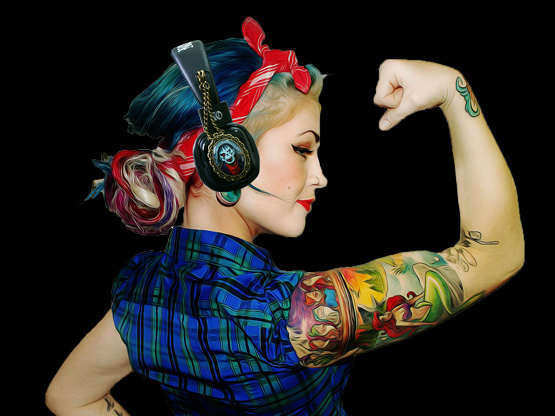 Rockabilly Fashion Headphones